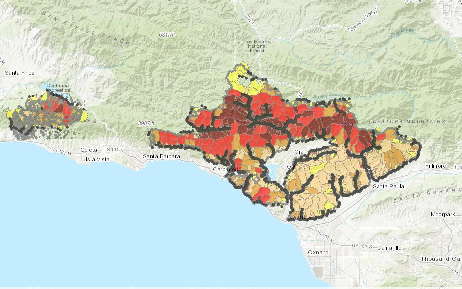 Maps Thomas Fire Ventura County Recovers