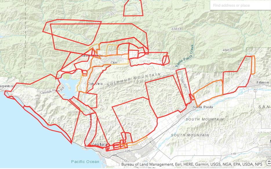 Maps - Thomas Fire - Ventura County Recovers